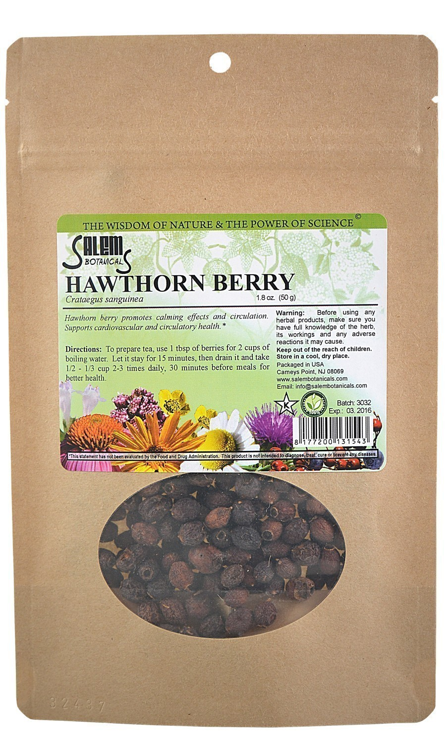 Hawthorn Berry 1.8oz (50gr) Dry Herbs, Berries and Fruits
