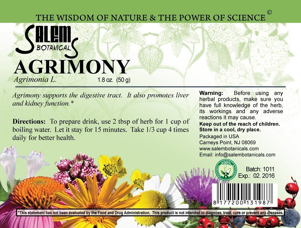 Agrimony 1.8oz (50gr) Dry Herbs, Berries and Fruits