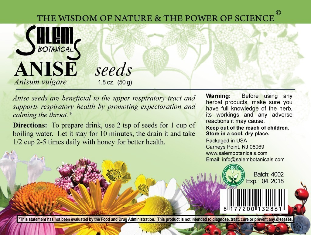 Anise Seeds 1.8oz (50gr) Dry Herbs, Berries and Fruits