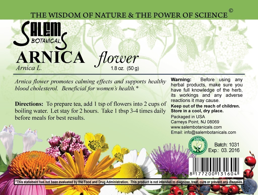 Arnica 1.8oz (50gr) Dry Herbs, Berries and Fruits