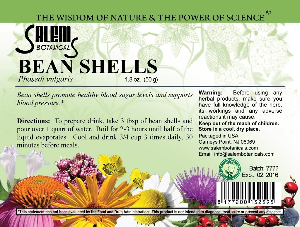 Bean Shells 1.8oz (50gr) Dry Herbs, Berries and Fruits