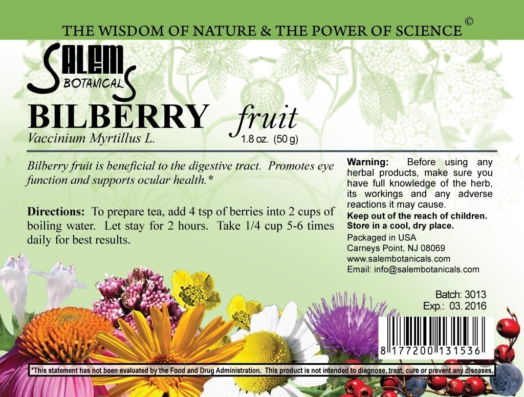 Bilberry Fruits1.8 (50gr) Dry Herbs, Berries and Fruits