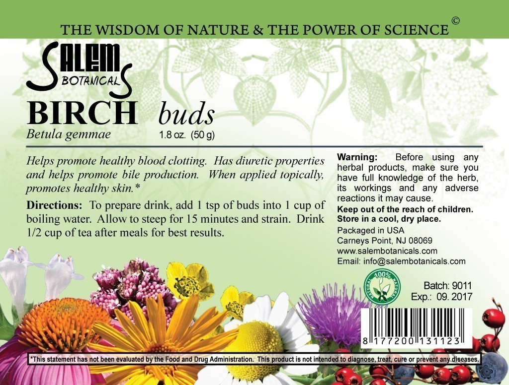Birch Buds 1.8oz (50gr) Dry Herbs, Berries and Fruits