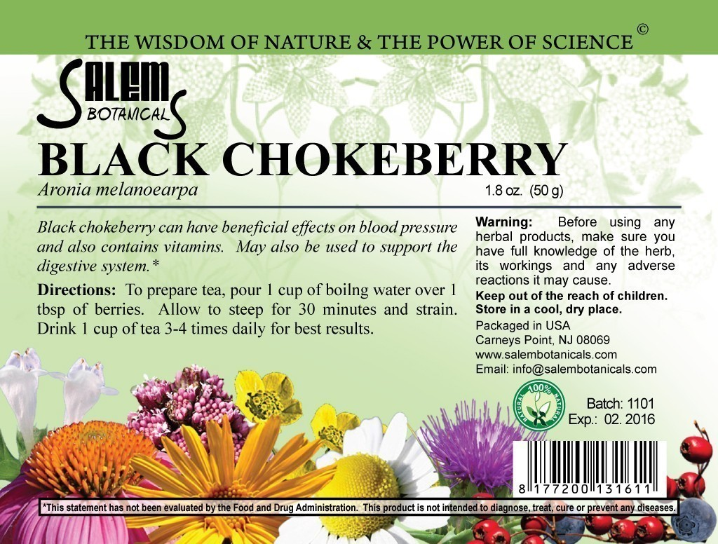 Black Chokeberry 1.8oz (50gr) Dry Herbs, Berries and Fruits