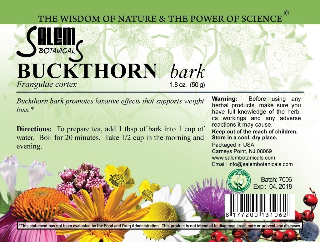 Buckthorn Bark 1.8oz (50gr) Dry Herbs, Berries and Fruits