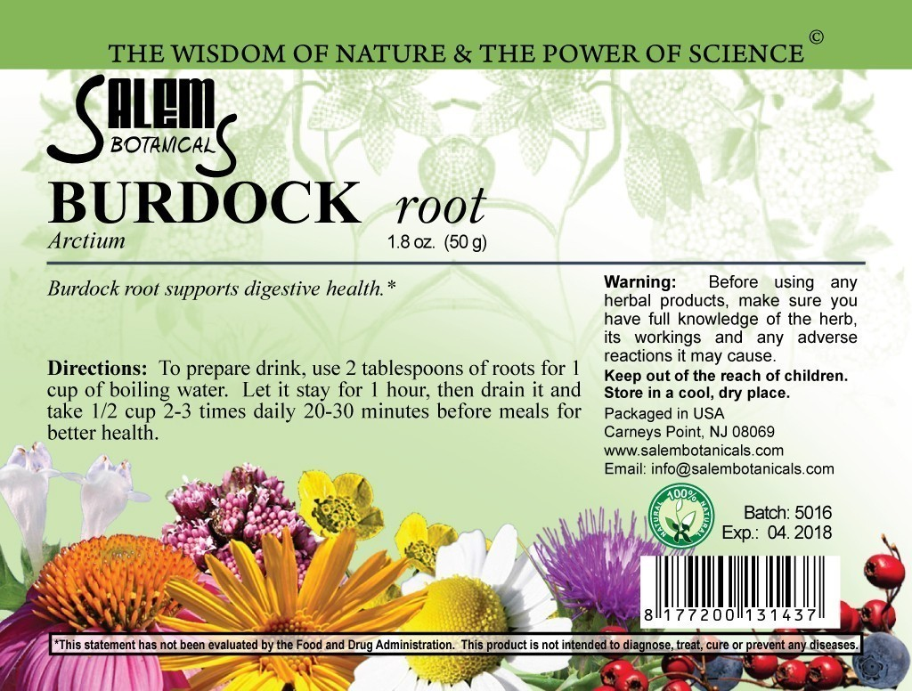 Burdock Root 1.8oz (50gr) Dry Herbs, Berries and Fruits