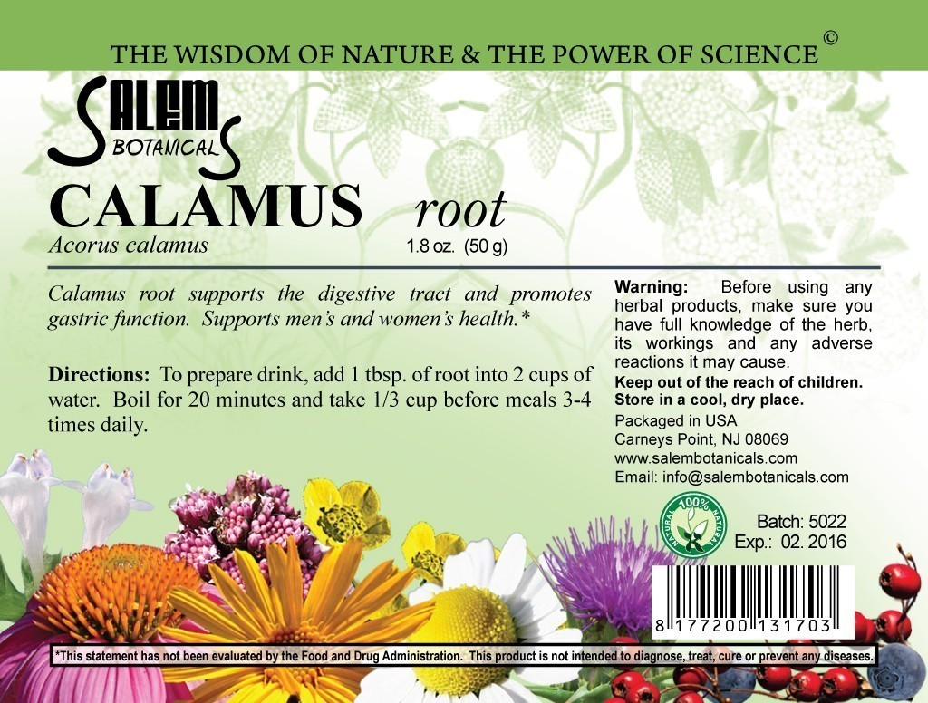 Calamus Root 1.8oz (50gr) Dry Herbs, Berries and Fruits