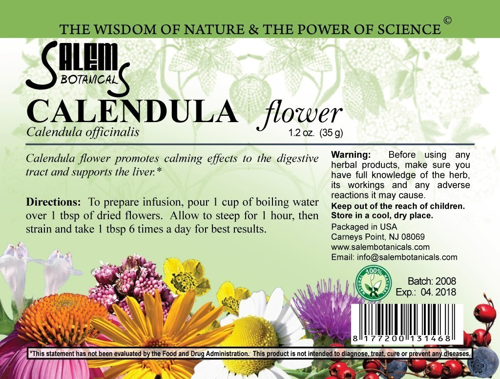 Calendula Flower 0.8oz (25gr) Dry Herbs, Berries and Fruits