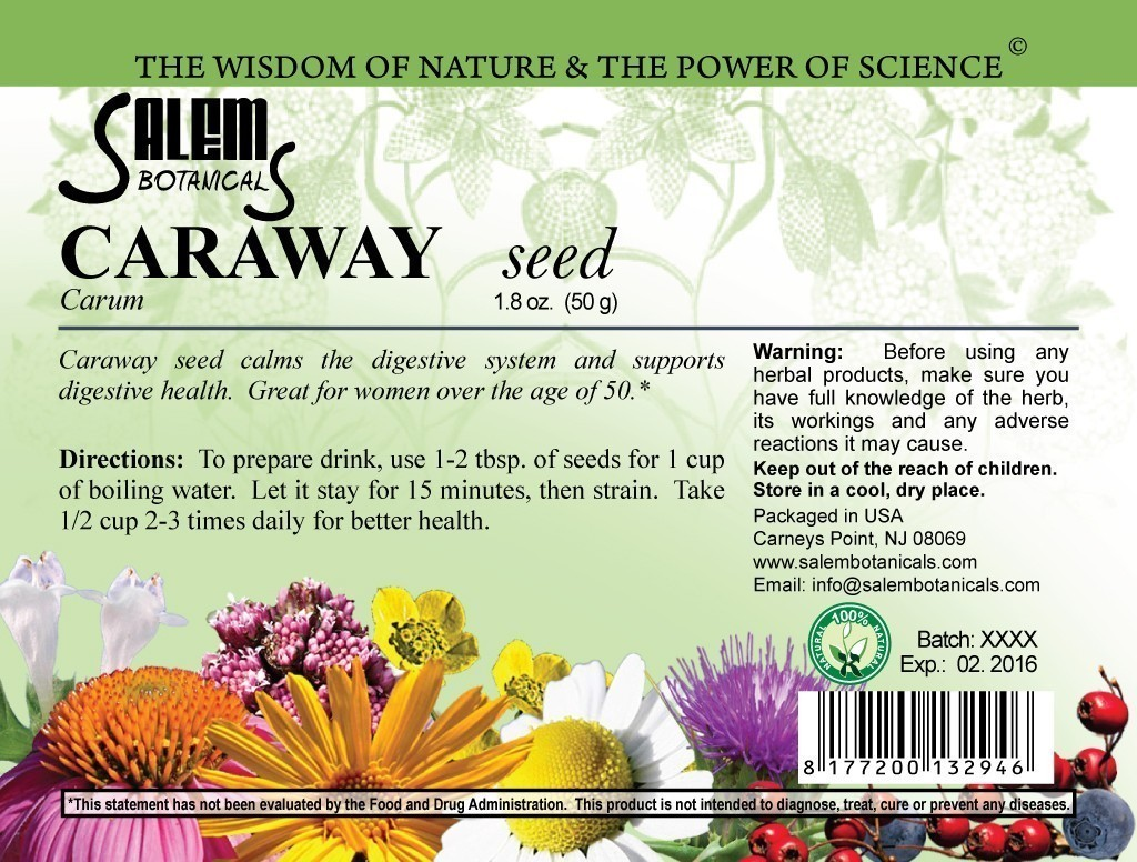 Caraway Seed 1.8oz (50gr) Dry Herbs, Berries and Fruits