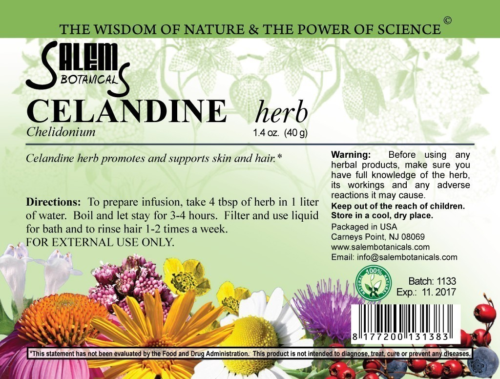 Celandine Herb 1.4oz (40gr) Dry Herbs, Berries and Fruits