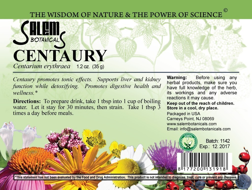 Centaury Herb 1.2oz (35gr) Dry Herbs, Berries and Fruits