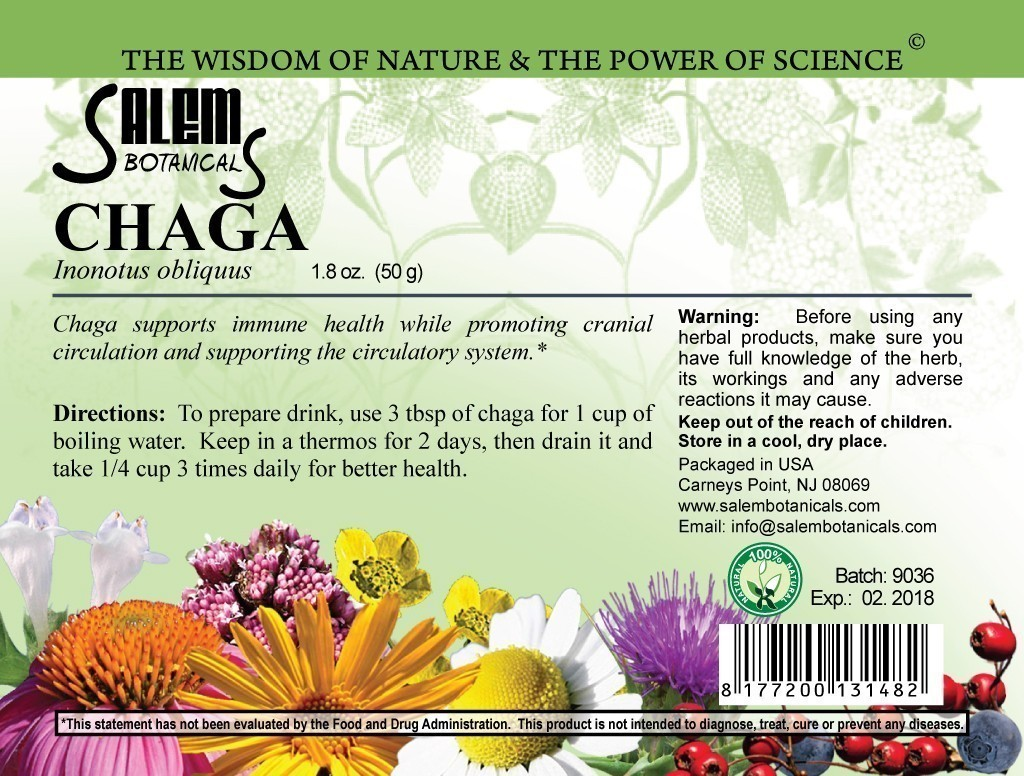 Chaga 1.8oz (50gr) Dry Herbs, Berries and Fruits