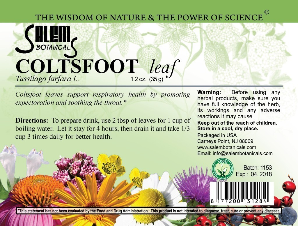 Coltsfoot Leaf 1.2oz (35gr) Dry Herbs, Berries and Fruits
