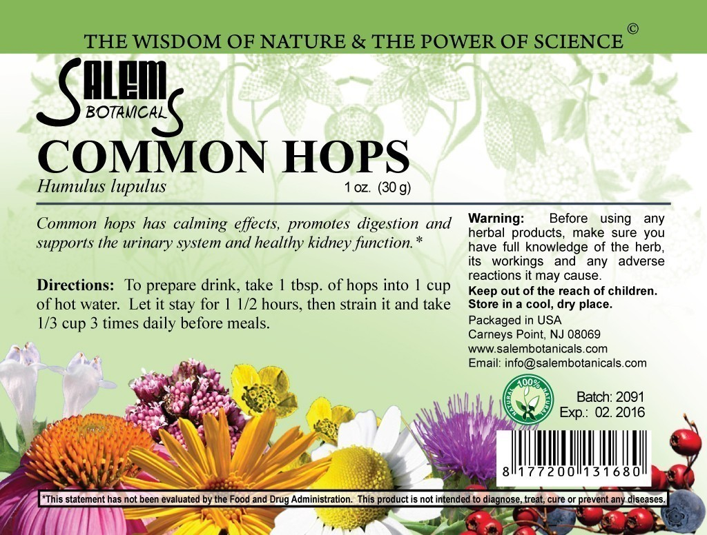 Common Hops 1.06oz (30gr) Dry Herbs, Berries and Fruits