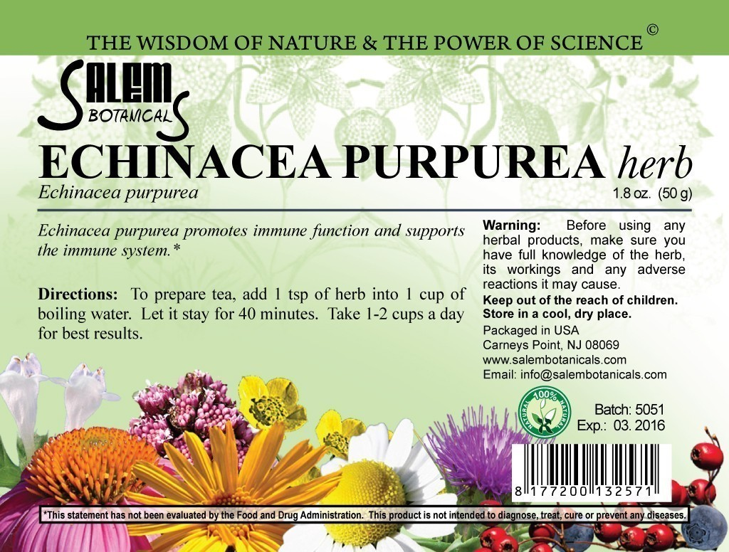 Echinacea Purpurea Herb 1.8oz (50gr) Dry Herbs, Berries and Fruits