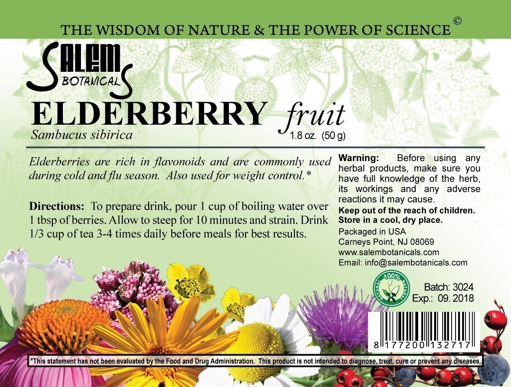 Elderberry Fruit 1.8oz (50gr) Dry Herbs, Berries and Fruits