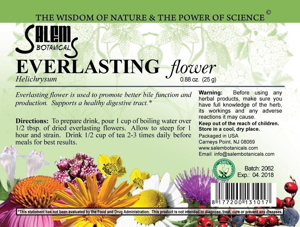 Everlasting Flower 1.2oz (35gr) Dry Herbs, Berries and Fruits