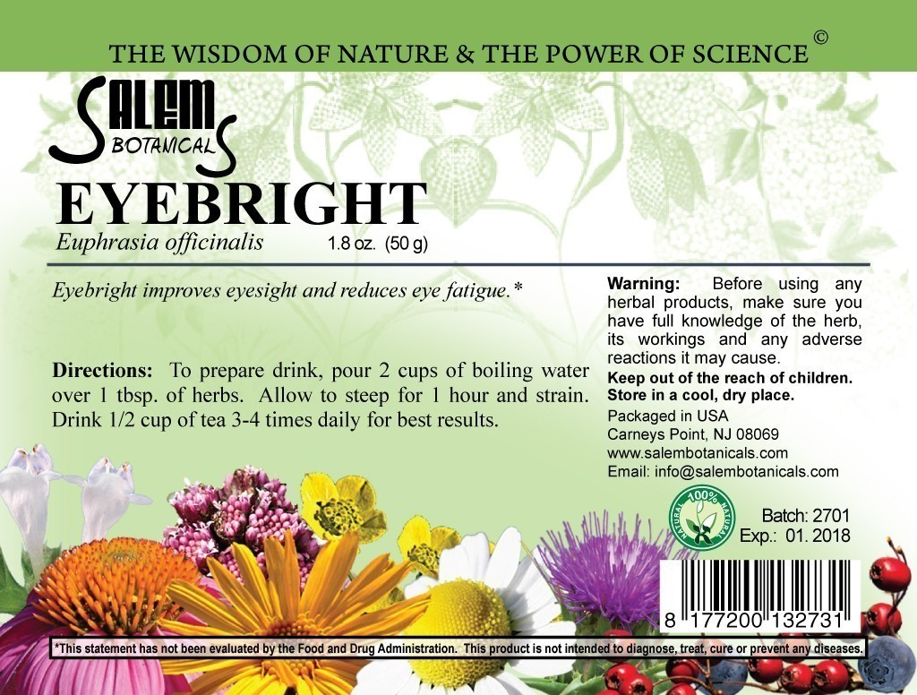 Eyebright 1.8oz (50gr) Dry Herbs, Berries and Fruits