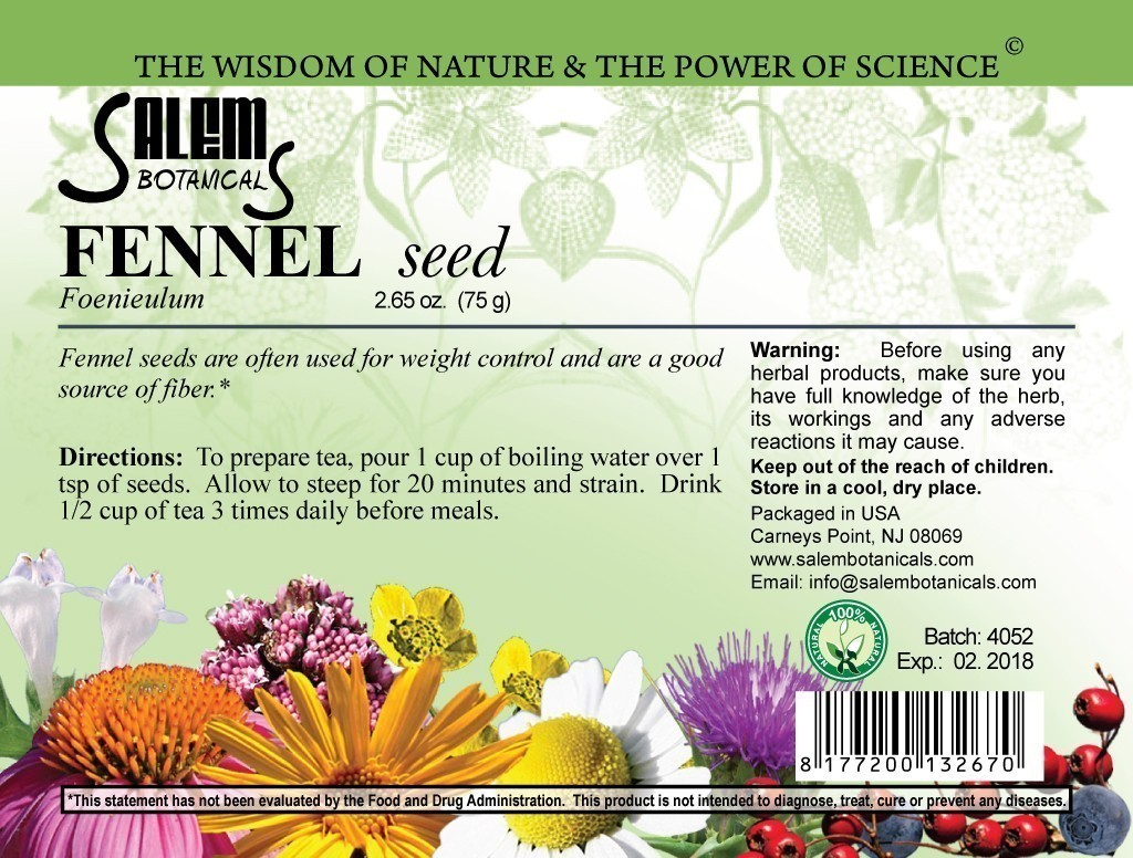 Fennel Seed Dry Herbs, Berries and Fruits