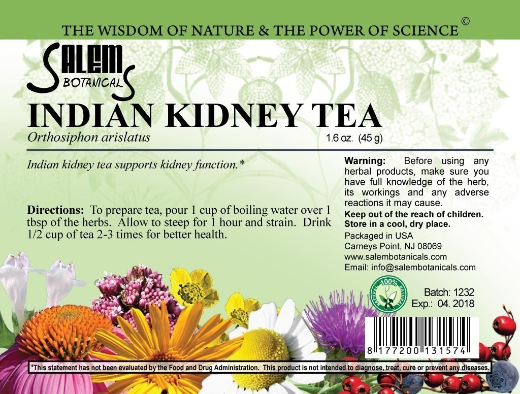 Indian Kidney Tea 1.8oz (50gr) Dry Herbs, Berries and Fruits