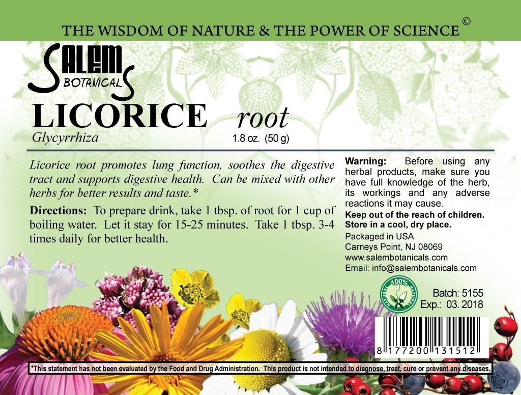 Licorice Root 1.8oz (50gr) Dry Herbs, Berries and Fruits