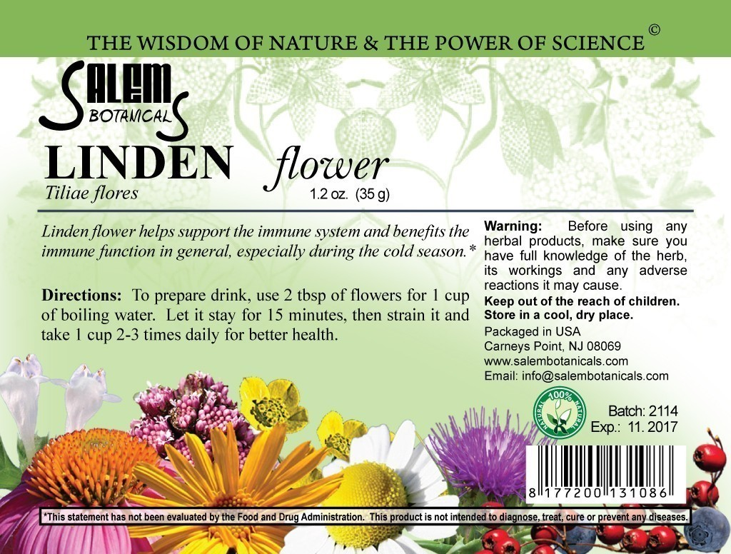 Linden Flower 1.2oz (35gr) Dry Herbs, Berries and Fruits