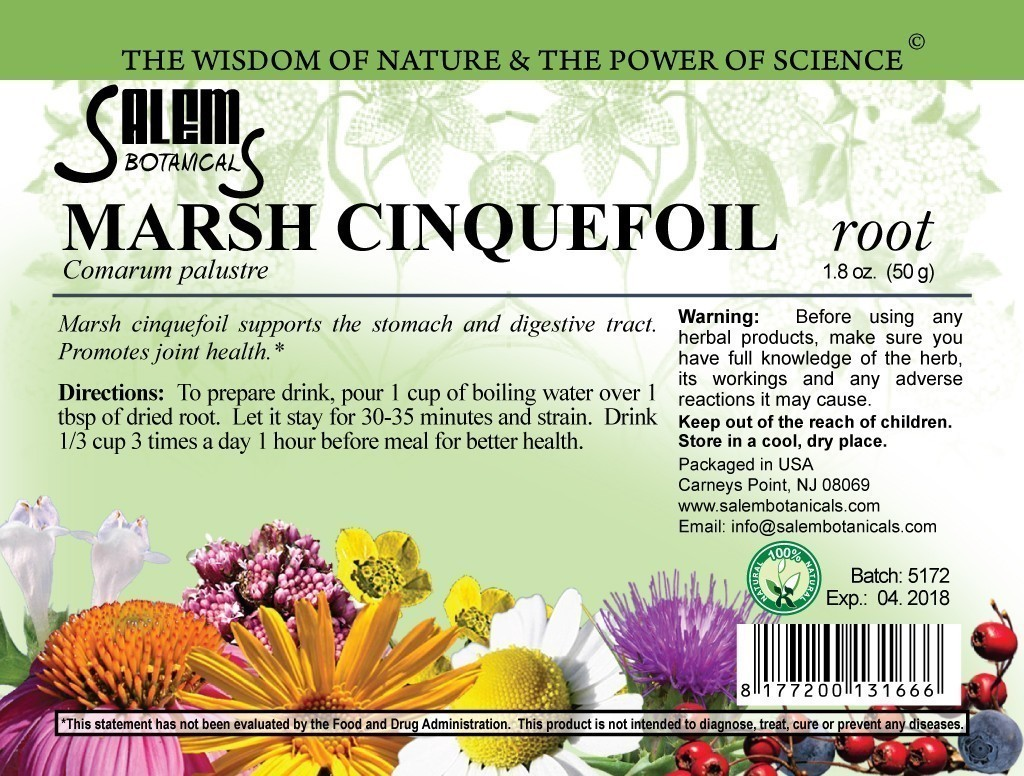Marsh Cinquefoil Root 1.6oz (45gr) Dry Herbs, Berries and Fruits