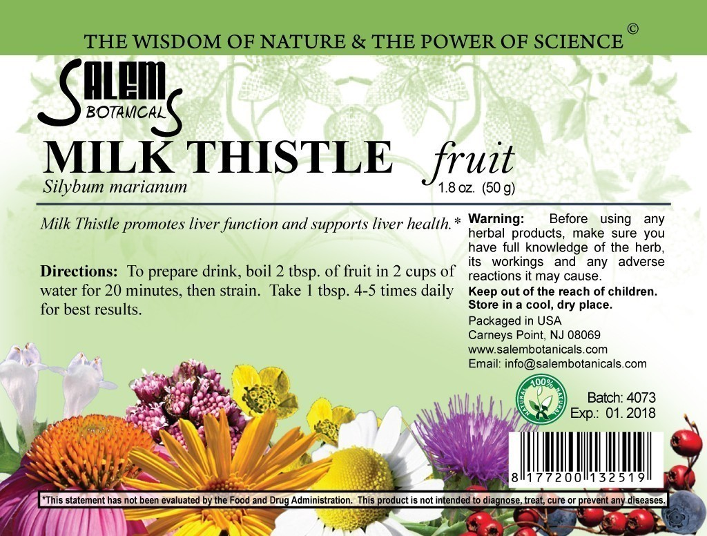 Milk Thistle Seeds 1.8oz (50gr) Dry Herbs, Berries and Fruits