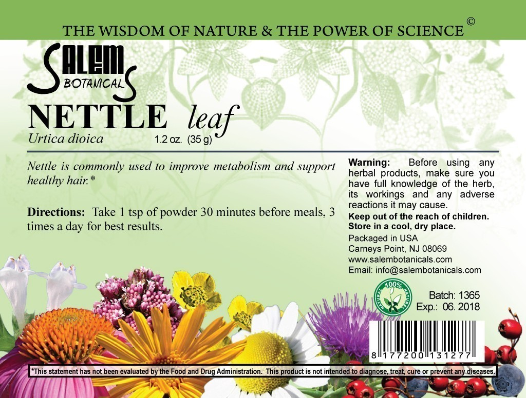 Nettle Leaf 1.2oz (35gr) Dry Herbs, Berries and Fruits