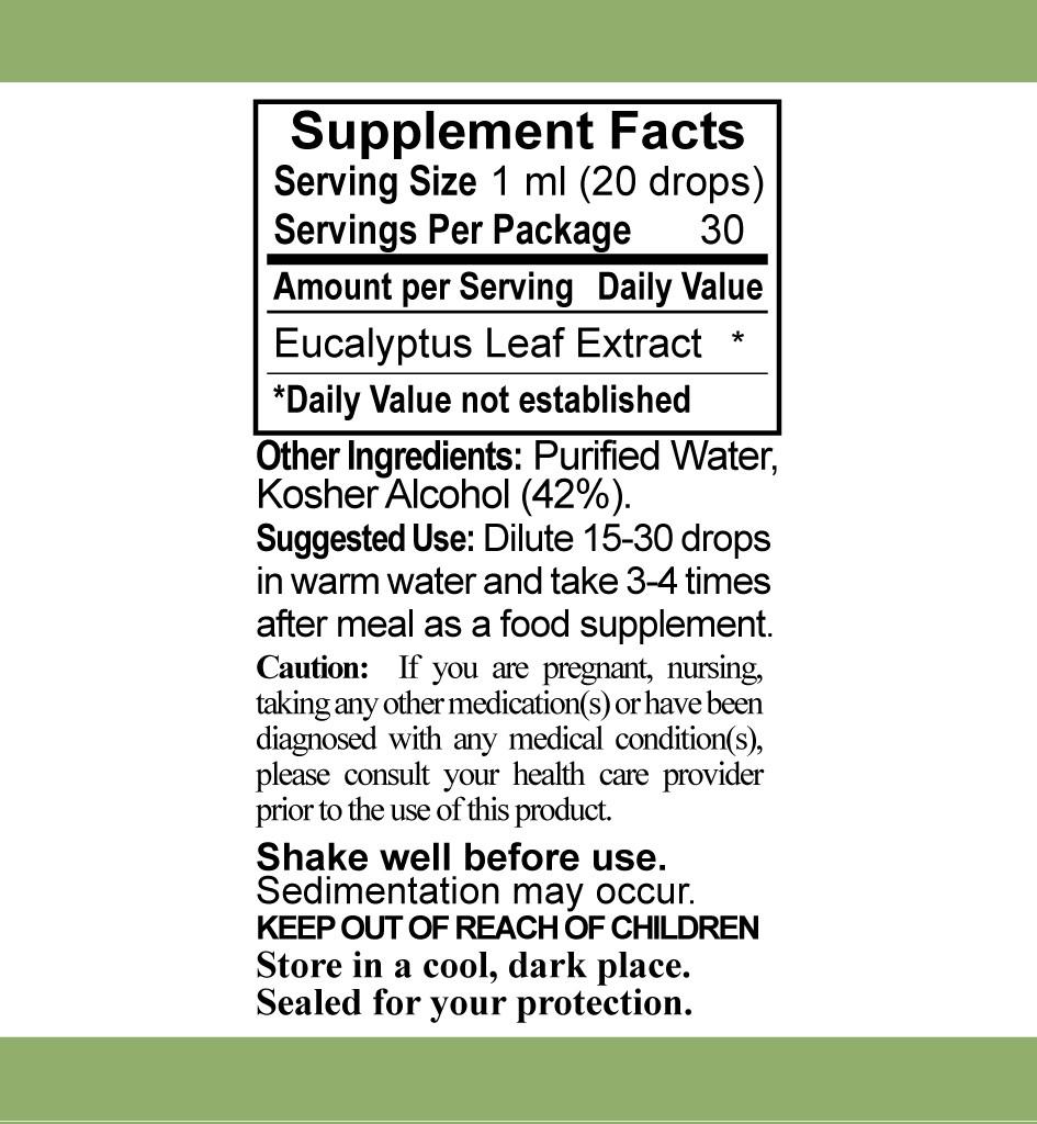 SB LE ENG Eucalyptus Info - Eucalyptus Liquid Extract