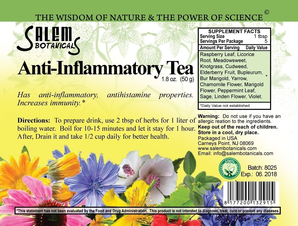 Anti-Inflammatory Blend 1.8oz (50gr) Dry Herbs, Berries and Fruits