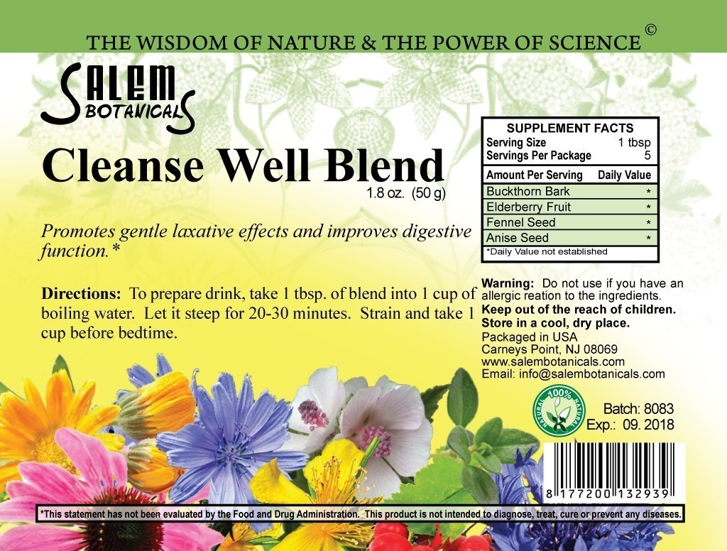 Cleanse Well Blend 1.8oz (50gr) Herbal Teas