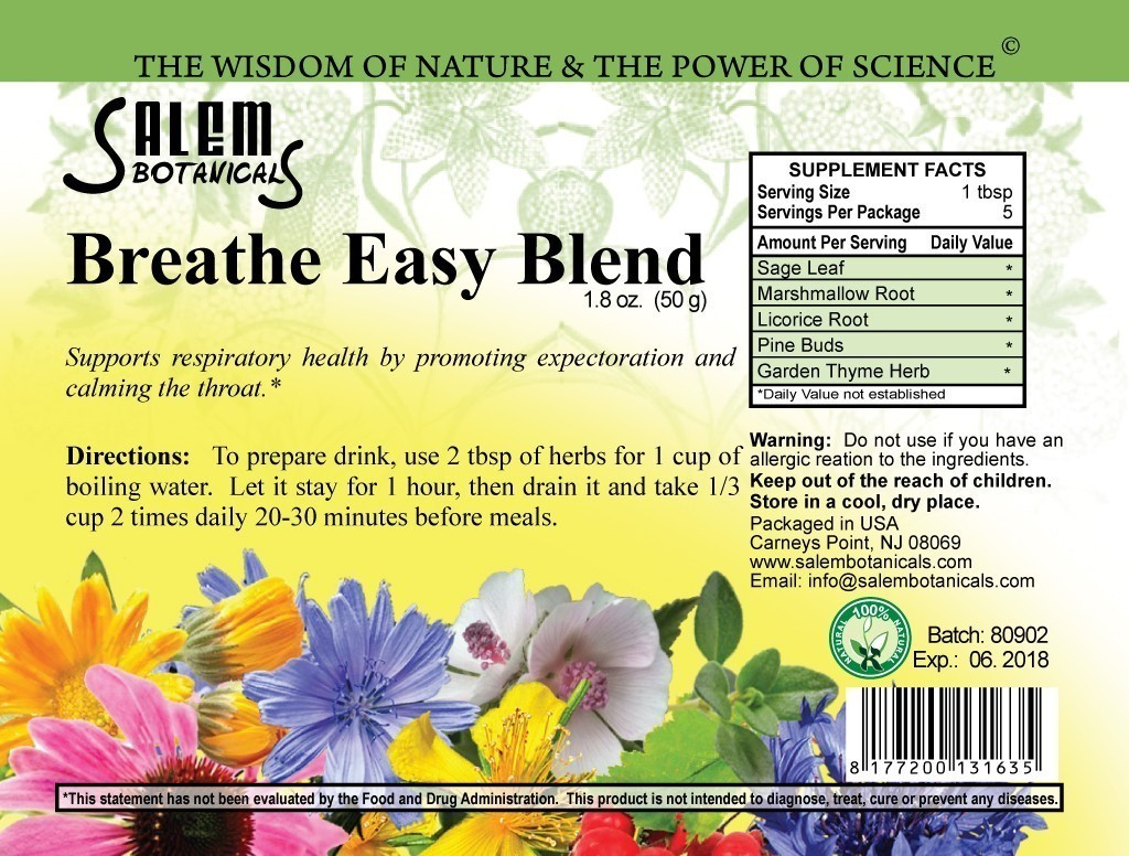 Breathe Easy Blend Herbal Teas