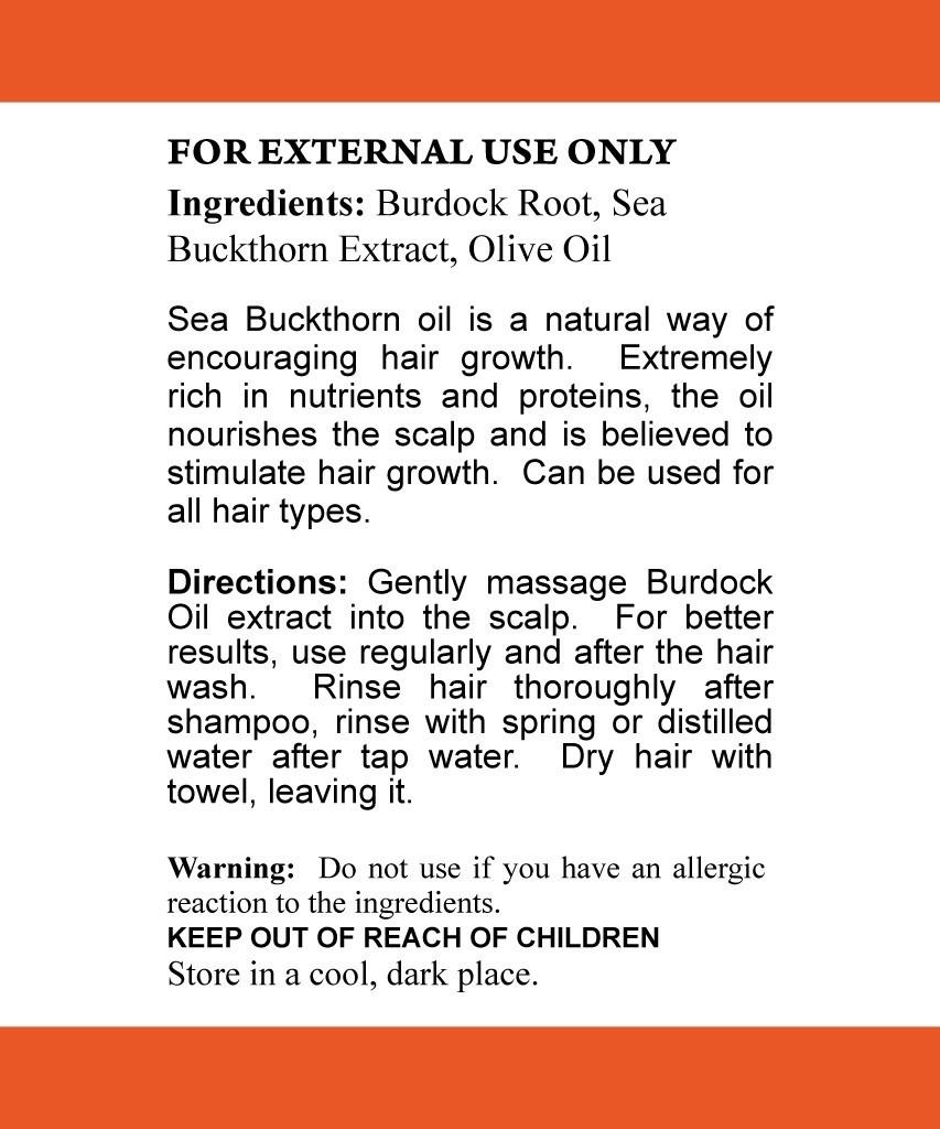 Burdock + Seabuckthorn Oil Hair Products