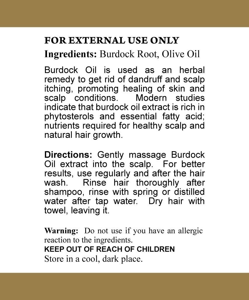 Burdock Oil Hair Products
